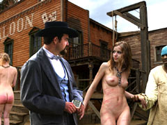 Matchless message, wild west girl pussy protest against